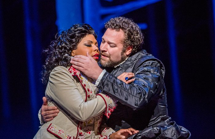 Kristin Lewis and Bryan Hymel in Don Carlo at Royal Opera House, London. Photo: Tristram Kenton