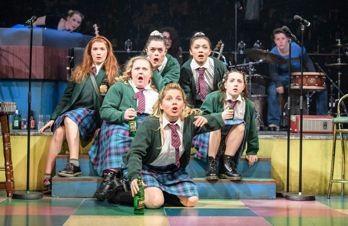 The cast of Our Ladies of Perpetual Succour at Duke of York's Theatre, London. Photo: Manuel Harlan