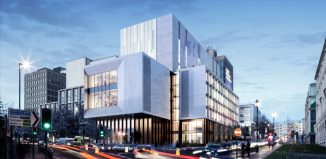 Artist impression of the creative arts centre at Leeds Beckett University.