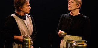 Diana Quick and Majorie Yates in Babette's Feast at Print Room at the Coronet, London. Photo: Nobby Clark