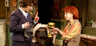 Felicity Kendal and Maureen Lipman in Lettice and Lovage at the Menier Chocolate Factory, London