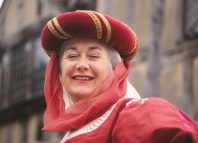 Polly Taylor as the Wife of Bath in 1990. Photo: Marja Giego