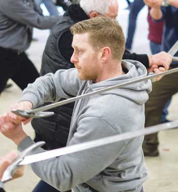 The sword-fighting rehearsals for Kynren 2017. Photo: Richard Rayner/North News and Pictures