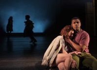 John Boyega and Sarah Greene in Woyzeck at the Old Vic, London. Photo: Manuel Harlan