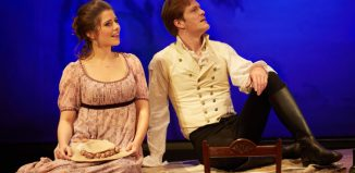 Bethan Nash and George Kemp in Emma at Yvonne Arnaud Theatre, Guildford. Photo: Mark Douet