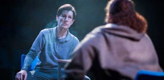 Harriet Walter in the Donmar Warehouse's Julius Caeser. Photo: Helen Maybanks