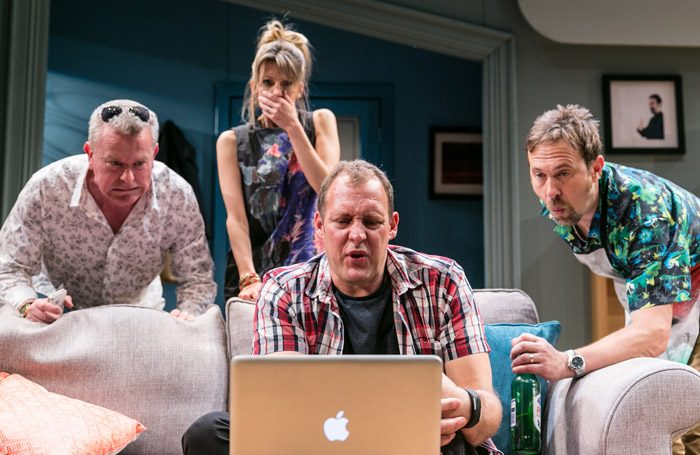 The cast of Twitstorm at Park Theatre, London. Photo: Darren Bell