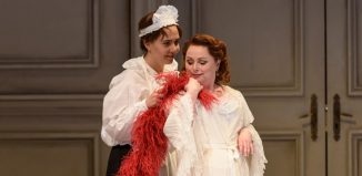 Lucia Cervoni and Rebecca Evans in the WNO Der Rosenkavalier. Photo: Bill Cooper