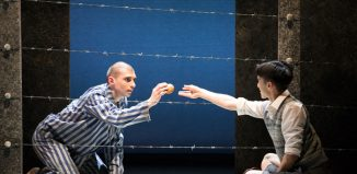 Matthew Koon and Filippo Di Vilio in The-Boy in the Striped Pyjamas at Richmond Theatre, London