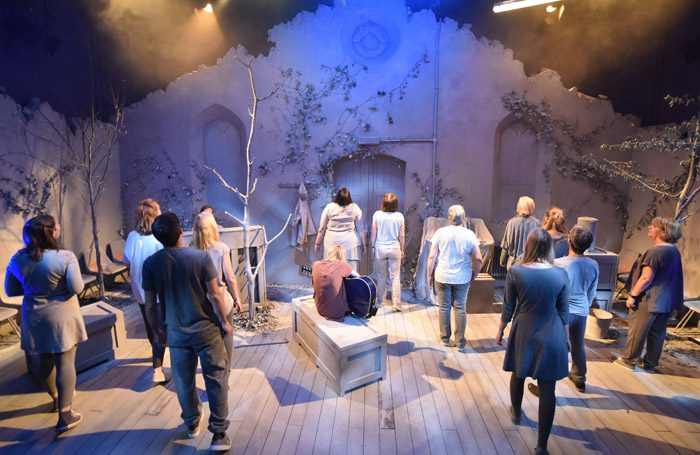 The cast of The Events at Mercury Theatre, Colchester. Photo: Robert Day