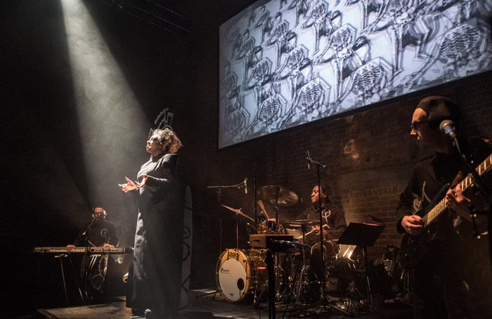 Scene from Cat and Mouse at village Underground, London. Photo: Matt Humphrey