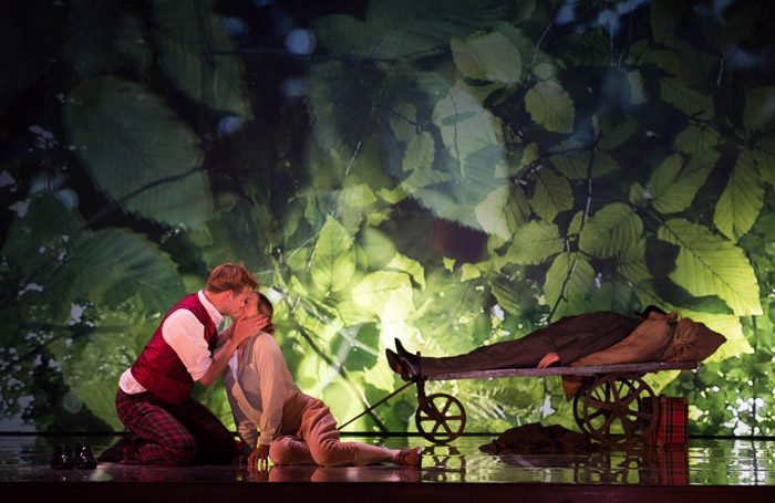 George Humphreys and Eleanor Dennis in A Midsummer Night's Dream at Snape Maltings. Photo: Hugo Glendinning