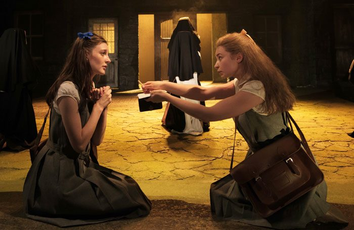 Grace Molony and Genevieve Hulme-Beaman in The Country Girls at Chichester Festival Theatre. Photo: Manuel Harlan
