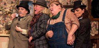 The cast of The Ladykillers at Lyric Theatre, Belfast