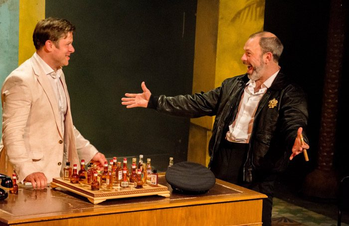 Scene from Our Man in Havana at Greenwich Theatre, London