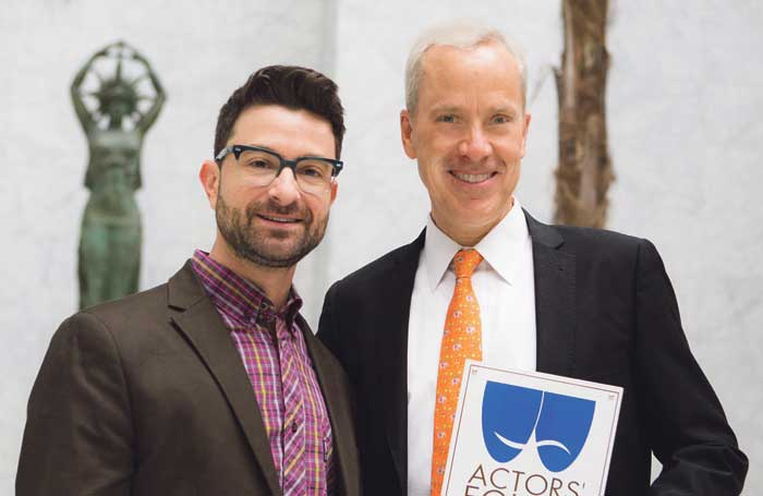 Theatre Rhinoceros' artistic director John Fisher (right) with Ethan Schwartz, from Actors' Equity Association. Photo: David Wilson