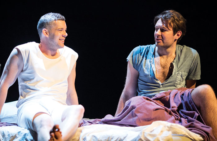 Left: Russell Tovey and James McArdle in Angels in America at the National Theatre. Photo: Helen Maybanks