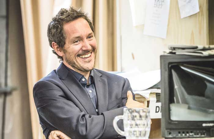 Bertie Carvel in rehearsals for Ink at the Almeida Theatre, London. Photo: Marc Brenner