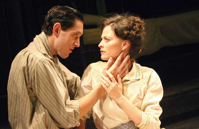 Bertie Carvel with Lara Pulver in Parade at the Donmar Warehouse, London, in 2007. Photo: Tristram Kenton