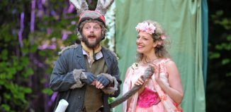 Matt Pinches and Sarah Gobran in A Midsummer Night's Dream. Photo: Guildford Shakespeare Company