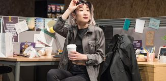 Kae Alexander in Gloria at Hampstead Theatre. Photo: Marc Brenner