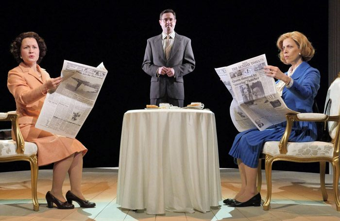 The cast of Handbagged at Theatre by the Lake, Keswick. Photo: Keith Pattison