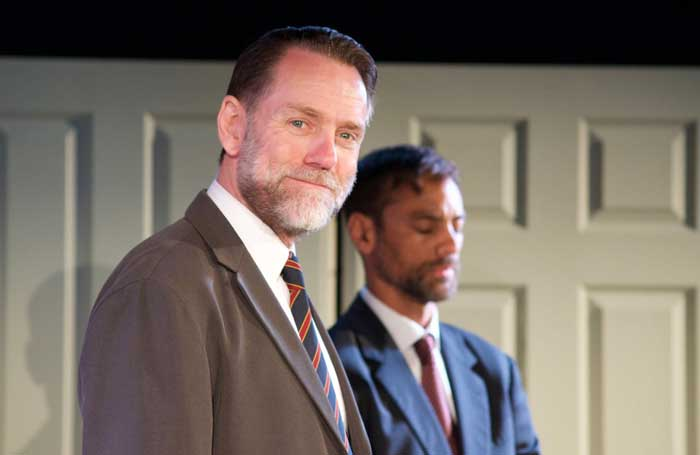 Andrew Loudon and Malcolm Jeffries in James Bonney MP at the White Bear Theatre, London. Photo: Georgia Leanne Harris