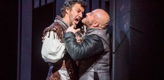 Jonas Kaufmann and Marco Vratogna in Verdi's Otello at the Royal Opera House, London. Photo: Tristram Kenton