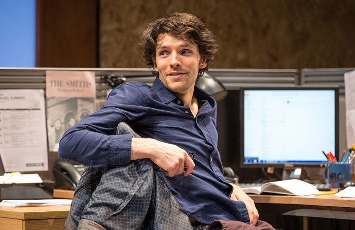 Colin Morgan in Gloria at Hampstead Theatre, London. Photo: Marc Brenner