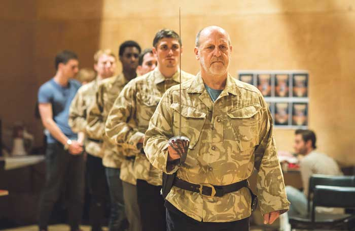 David Troughton and company in rehearsals for Titus Andronicus. Photo: Helen Maybanks