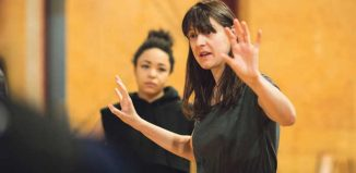 Blanche McIntyre in rehearsals for Titus Andronicus. Photo: Helen Maybanks