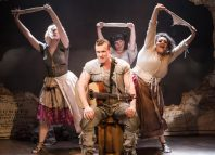 Connor Arnold and the cast of Blondel at the Union Theatre, London. Photo: Scott Rylander