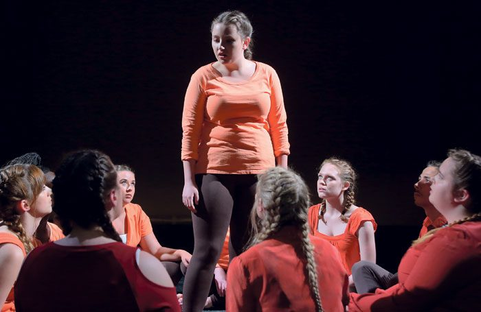 Students on the BA in Theatre and Performance course at Guildford School of Acting, which merged with the University of Surrey in 2009