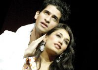 Preeya Kalidas with Raza Jaffrey in Bombay Dreams in 2002. Photo: Tristram Kenton