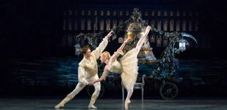 Elisha Willis and Joseph Caley in Coppelia at Bristol Hippodrome. Photo: Andrew Ross