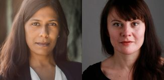 Lolita Chakrabarti and Monica Dolan. Photo (right): Alan Harris