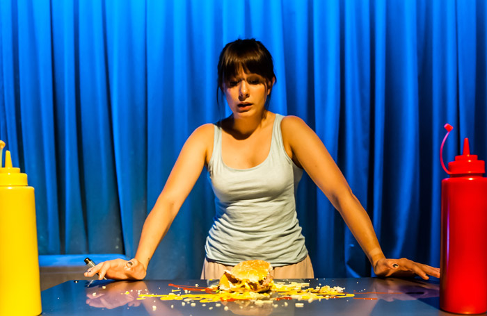 Rosie Wyatt in Mumburger at Old Red Lion, London. Photo: Lidia Crisafulli