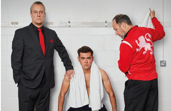 Stephen Tompkinson, Dean Bone and John Bowler in The Red Lion