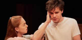 Louisa Connolly-Burnham and Oliver Johnstone in Tribes at Sheffield Crucible. Photo: Mark Douet