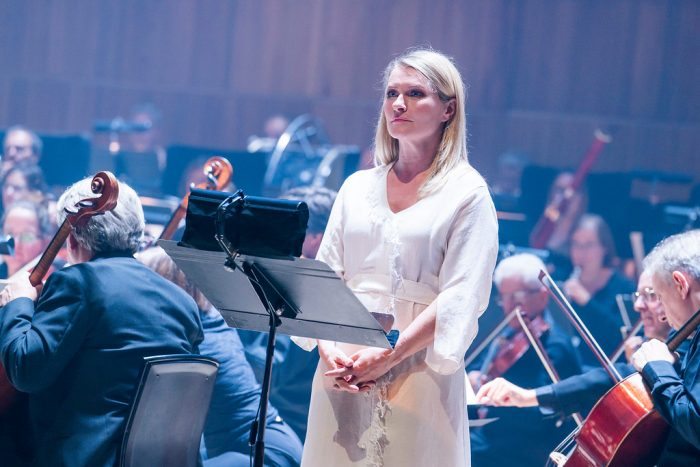 Patricia Bardon in The Dream of Gerontius at Royal Festival Hall, London. Photo: Tristram Kenton