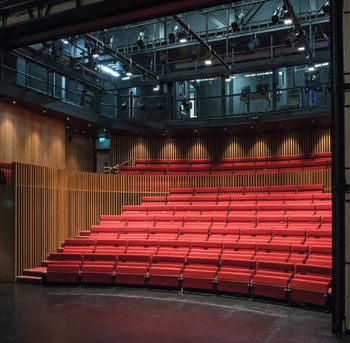 LAMDA Additions include the 200-seat Sainsbury Theatre. Photo: Richard Hubert Smith
