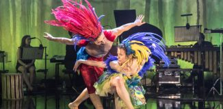 Liam Burke and Michelle Buckley in Voices of the Amazon at Sadler's Wells, London. Photo: Johan Persson1