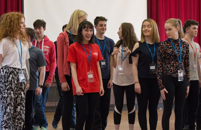 Batley and Spen Youth Theatre group workshop. Photo: Stage Shots