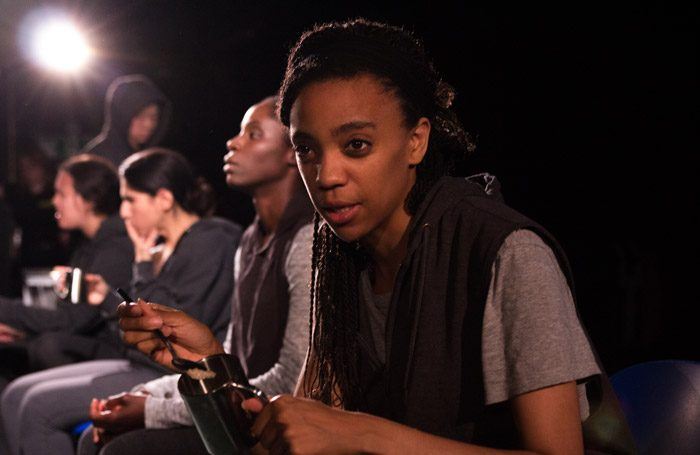 Lucy Sheen in The Scar Test at Soho Theatre, London. Photo: Rob O'Kelly
