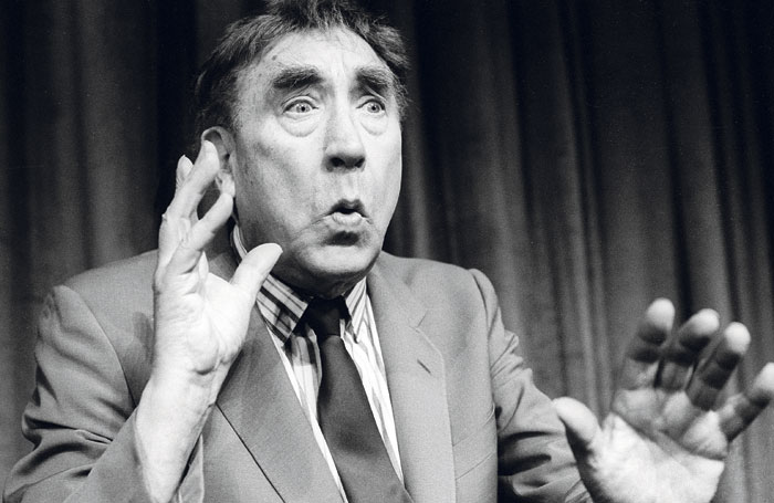 Frankie Howerd at the Lyric Theatre, 1990. Photo: Tristram Kenton