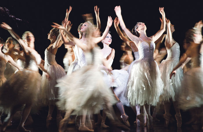 Sarah Lamb (centre) in the Royal Ballet's Swan Lake at the Royal Opera House in London in 2011. Photo: Tristram Kenton