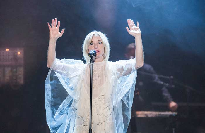 Jane Horrocks in Cotton Panic! at Upper Campfield Market Hall, Manchester. Photo: Tristram Kenton