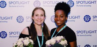 Spotlight Prize winners Cecily Redman and Yasmin Mwanza