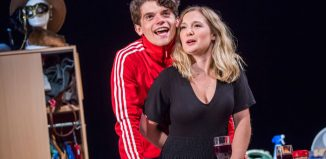 Edward Bluemel and Amy Morgan in Touch at Soho Theatre. Photo: Tristram Kenton