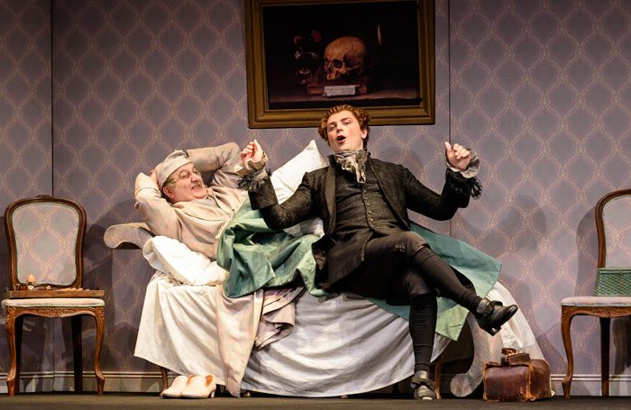 Renato Girolami and Andrey Zhilikhovsky in Don Pasquale at Glyndebourne. Photo: Bill Cooper
